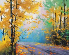 Autumn Delight. Graham Gercken (born 1960) Australian landscape artist.