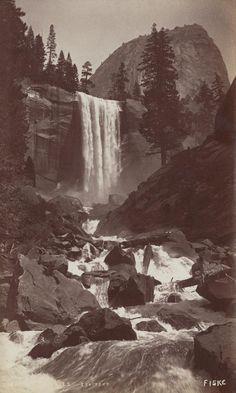 GEORGE FISKE  1835 - 1918 Vernal Fall. 350 feet. ca. 1878-1884 Date:ca. 1880