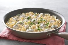 Simple ingredients combine to create a complex set of tastes in this Simple Meatball & Noodle Skillet that's set to become a staple at your table.