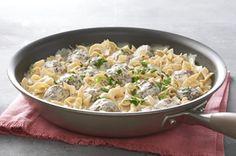 Meatball & Noodle Skillet recipe