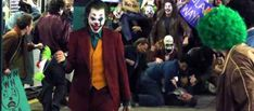Set video from Todd Phillips' solo Joker film appears to reveal Joaquin Phoenix's sinister laugh as Clown Prince of Crime. Aquaman, Joker Origin, Frances Conroy, Marc Maron, Joker Film, Zazie Beetz, Joaquin Phoenix, Studios, Comic Villains