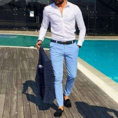 sky blue chinos combination