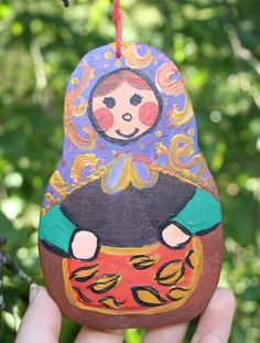I love Russian dolls and painting them. A symbol of mother earth the way I see it. This autumn doll would make a beautiful fall time decoration. Size is about 8 x 12 x / x x inches. Painted with acrylics and finished with clear varnish. Nursery Paintings, Nursery Art, Acrylic Artwork, Acrylic Paintings, Autumn Home, Autumn Fall, Harvest Decorations, Fall Decor, Holiday Decor