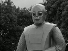 """The character Adam Link in""""I, Robot"""" The Outer Limits (1964). Leonard Nimoy defends Adam, who is on trial for killing his human creator."""