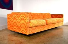 Adrian-Pearsall-Sofa-FREE-SHIPPING-Mid-Century-Orange-Couch-Craft-Associates