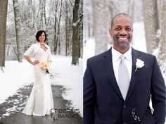 Amazing #winter #wedding in Dewitt, Michigan with Tracy and Emily. Snow can create the most stunning backdrop for wedding images, don't you agree?