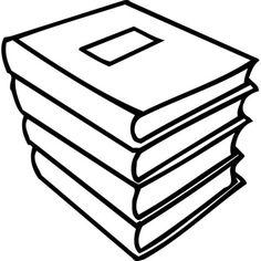 Bücherstapel Ausmalbild