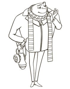 Gru Despicable Me 2 Coloring Pages