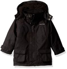 Nautica Baby Boys Heavyweight Snorkel Jacket with Storm Cuffs, Black, 12 Months ** For even more info, see photo link. (This is an affiliate link). Baby Boy Jackets, Snorkeling, Baby Boys, Rain Jacket, Windbreaker, Raincoat, Cuffs, Bubble, Stuff To Buy