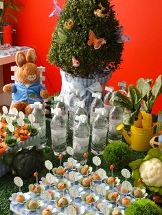Cute Peter rabbit child's birthday idea