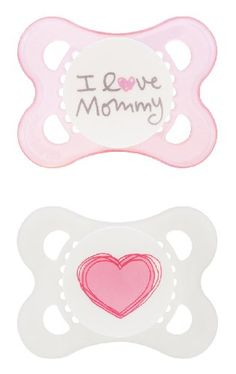 MAM Love and Affection I Love Mommy Silicone Pacifier, 2 Count MAM http://www.amazon.com/dp/B00GWOJXT2/ref=cm_sw_r_pi_dp_TPXkub077CCEQ
