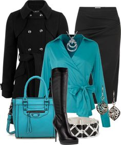 """Black and Blue"" by stylesbyjoey ❤ liked on Polyvore"