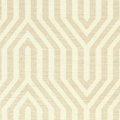Tribeca Sisal Wallpaper A striking wide width grasscloth wallpaper shown in cream and beige with an edgy and graphic multi directional geometric chevron printed on top of a fine sisal weave.