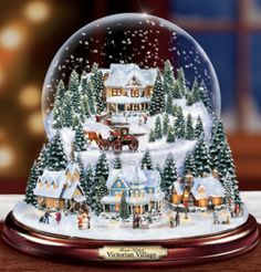 Thomas Kinkade snowglobes have such detail!