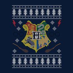 Christmas Harry Potter Hogwarts Crest Knit