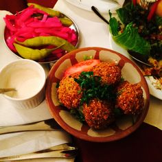 Lebanese falafel and pickles