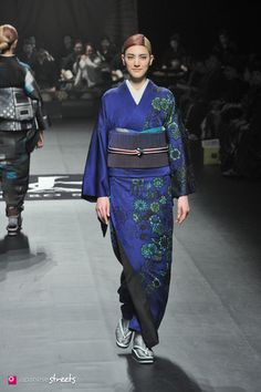 140319-7680 - Autumn/Winter 2014 Collection of Japanese fashion brand JOTARO SAITO on March 19, 2014, in Tokyo.