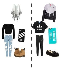 """""""The two sides of me"""" by jennasurprenal on Polyvore featuring Topshop, Dr. Martens, adidas, NIKE, Minnetonka and Casetify"""