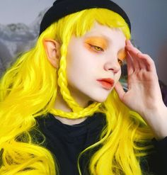 These special hair colors, you can also try boldly, let's take a look! - Page 15 of 16 - slleee 3 4 Face, Face And Body, Poses, Mode Grunge, Photographie Portrait Inspiration, Yellow Hair, Jolie Photo, Grunge Hair, Aesthetic Makeup