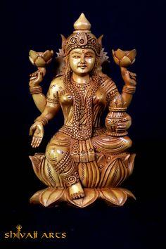 Lakshmi statue,8inches,Wood Laxmi Idol, Goddess Lakshmi Figure, Lakshmi sculpture, Hindu Goddess Of Money , Wealth, Fortune & prosperity by Shivajiarts on Etsy Lakshmi Statue, Ganesh Statue, Indian Goddess, Goddess Lakshmi, Shiva Photos, Hindu Culture, Good Luck Gifts, Shiva Shakti, Lord Vishnu
