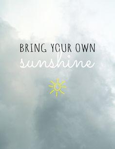 sunshine printable