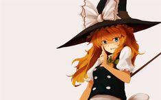Download wallpapers Touhou Project, Marisa Kirisame, Touhou, art, anime manga, Japanese manga