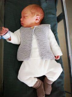 Tuto tricot gilet de berger nouveau né