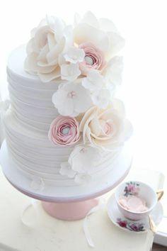 ▷ Ideas for Pies for Baptism - Create a Unique Celebration - Hochzeitstorte * Wedding Cake * Gâteau de mariage Beautiful Wedding Cakes, Gorgeous Cakes, Pretty Cakes, Elegant Wedding, Rustic Wedding, Wedding Simple, Simple Weddings, Trendy Wedding, Patisserie Fine