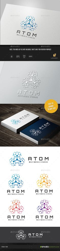 Atom Media II Logo Template Vector EPS, AI #design #logotype Download: http://graphicriver.net/item/atom-media-ii/10748522?ref=ksioks