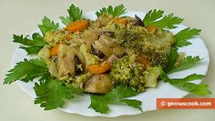 The Recipe for Broccoli Stewed with Champignons in White Wine | Dietary Cookery | Genius cook - Healthy Nutrition, Tasty Food, Simple Recipes