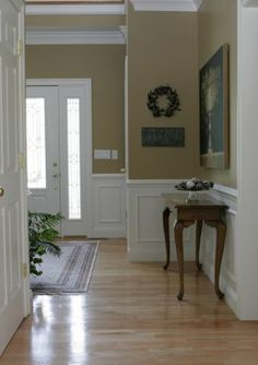With-The-Right-Interior-Paint-Color dining room wainscoting, painted wainsc Wainscoting Stairs, Painted Wainscoting, Dining Room Wainscoting, Wainscoting Bathroom, Rustic Wainscoting, Wainscoting Height, Paint Bathroom, Wainscoting Ideas, Foyer Paint Colors