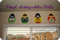 Occasionally Crafty: Spicing up my craft room- Vinyl Matryoshka Dolls!