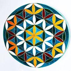 Ceramic mural Flower of Life  #architecture #luxury #interiordesign  #home
