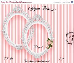 SALE 50% OFF Printable White OVAL Frames for Photographer Web Blog Digital Scrapbooking Die Cut Ornate Frame Shabby Chic Wedding Stamp Clip by pixelmarket on Etsy https://www.etsy.com/listing/95904648/sale-50-off-printable-white-oval-frames