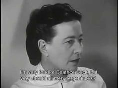 Simone de Beauvoir Defends Existentialism & Her Feminist Masterpiece, The Second Sex, in Rare 1959 TV Interview Truth And Lies, Masters, Philosophy, Two By Two, Interview, Politics, Culture, Writing, Tv