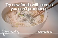 Stay curious by trying new foods with names you can't pronounce. #couchsurfing #staycurious  Photo by jet_star