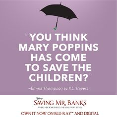 """Oh, dear."" See two-time Academy Award winner #EmmaThompson in #SavingMrBanks - now available on Blu-Ray and Digital!"