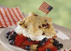 Red, White and Blue Star Shortcake