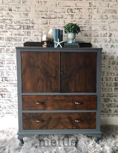 Vintage Chest Toned with Water Based Wood Stain Paint Furniture, Furniture Makeover, Furniture Design, Black Wood Stain, Water Based Wood Stain, Vintage Chest, Thing 1, Black Lamps, Milk Paint