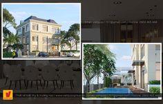 Thiết kế biệt thự hiện đại Vinhomes Home Fashion, Mansions, House Styles, Home Decor, Decoration Home, Manor Houses, Room Decor, Villas, Mansion