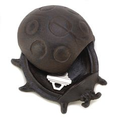 KEY HIDER LADYBUG SPARE KEY STASH HIDE A KEY HOME DECOR GARDEN #HomeLocomotion