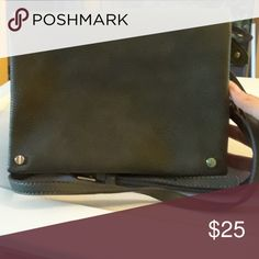 """Streel Level Crossbody Bag Vegan leather forest green crossbody bag by Street Level. Demi fold, has gorgeous gold hardware. Used it for a day. Still in perfect condition! 9.5"""" long, 7"""" tall, about 2"""" wide. Strap is adjustable and 48"""" at its longest. Street Level Bags Crossbody Bags"""