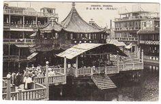 上海豫园茶楼 Tea House, Shanghai 1930s by China Postcard, via Flickr