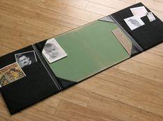 classy vintage french leather desk portfolio