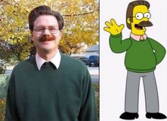 Gallery of people who look like Simpsons characters!