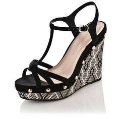 Sandales compensées ethnique femme
