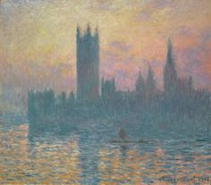 Monet, The Houses of Parliament, Sunset