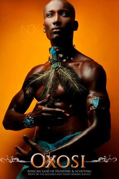 "Oxossi (also Oshosi, Ochosi, Ososi, Oxosi, or Osawsi) is both the Orisha of the forest and one of the three warrior orishas referred to as the ""Ebora"" in the Yoruba religion. He is a hunter, and his role as an often solitary figure in the wilderness lends him another role as a shaman. He is also connected with all hunter communities, and is often depicted as a friend or ally of both the caboclos and the nature spirits of the forests of Brazil."