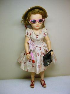 MISS REVLON DOLL w DRESS STRAW HAT GLASSES SHOES & ACC