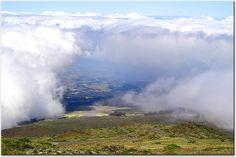 Clouds over Haleakaia, on Maui, Hawaii.